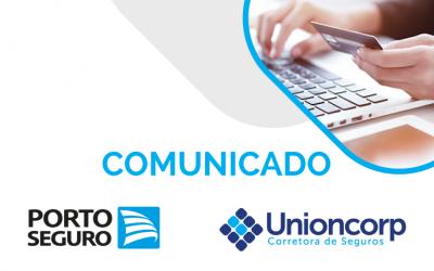 Unioncorp informa: Até 31 de dezembro, a Porto Seguro parcela os aluguéis no cartão de crédito, sem juros.